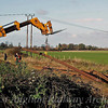 Girton Road crossing, Track removal for the guided busway. November 2006. Photo with kind permission of Peter Heath.