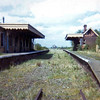 Somersham Station in April 1973. This was a junction station for the line to Ramsey East.