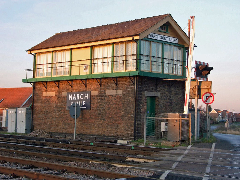 March South Junction Signal Box. December 2008. Photo with kind permission of Peter Heath