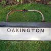 Fluorescent sign from Oakington.