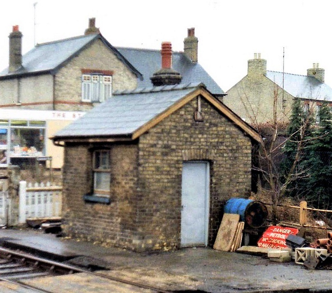 The crossing keepers hut at Histon on 31st March 1979. This has been preserved and is now located the other side of the tracks. Next photo.