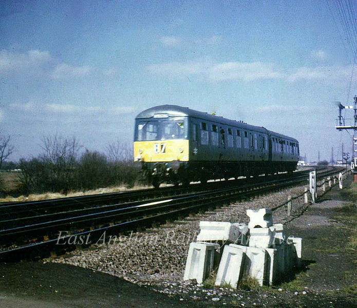 M and GN Society special railtour leaves the branch at March South Junction. 4th March 1967. Photo with kind permission of Stewart Ingram