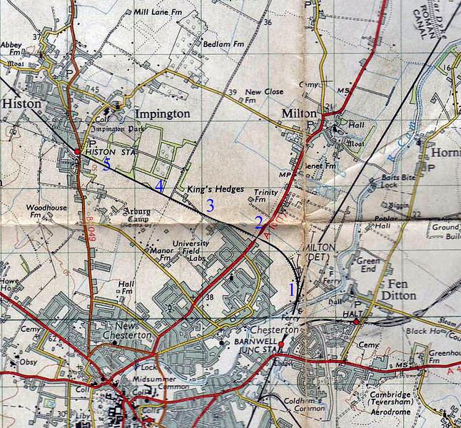 Chesterton Junction to Histon