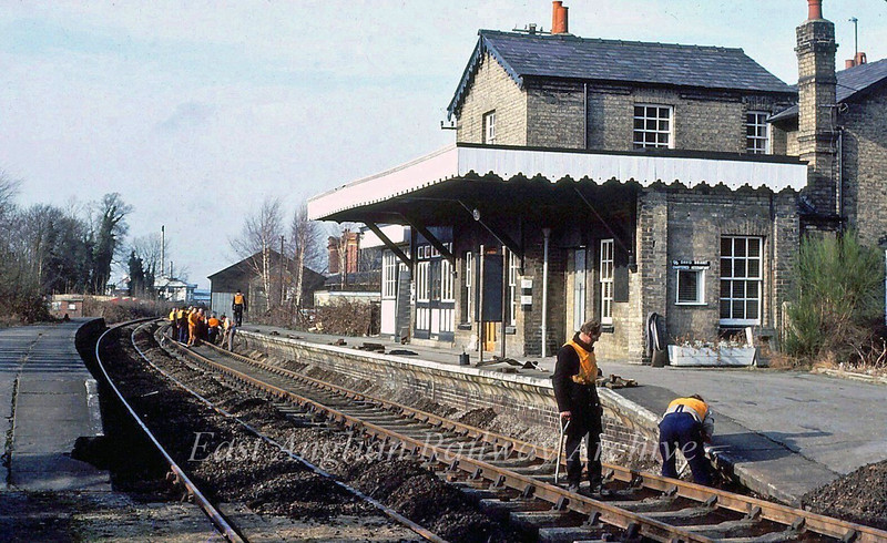 Track work at Histon c1981