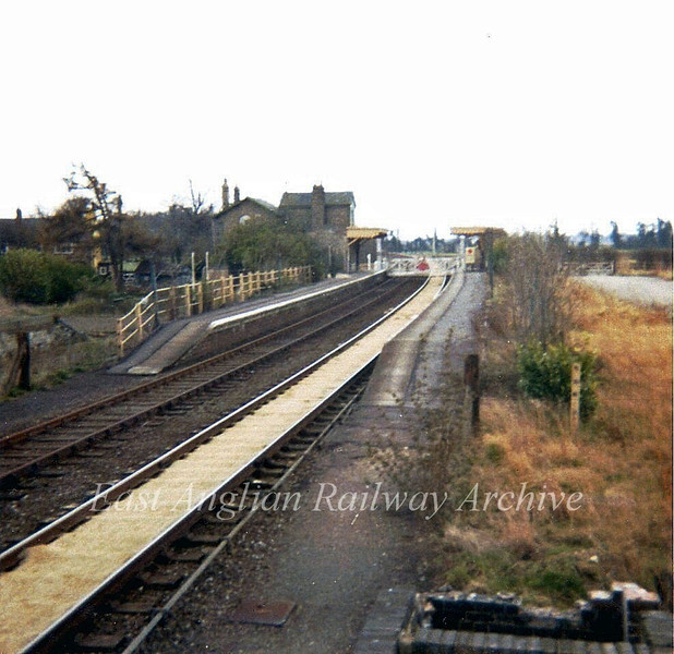Oakington viewed from the steps of the signal box in April 1973. Shame I didn't ever get a photo of the box itself.