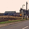 Longstanton viewed from the B1050  Wllingham Road on 7th May 1979. An RCTS special stands at the platform.