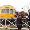The platform is crowded at Swavesey with the arrival of the first Railway Development Society Special to Cambridge. The first passenger train to arrive here in nearly nine years. No trace of the station remains today.  31st March 1979.