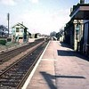 Chatteris facing north towards March. Date and photographer unknown. The shadow of the Up starter on the platform.
