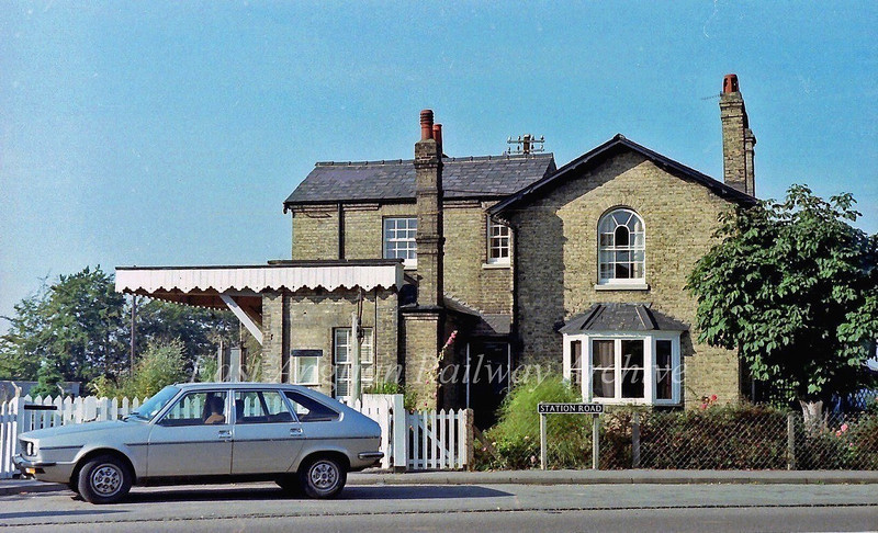 Histon station house.  24th October 1978.