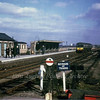 "A lovely atmospheric shot of Chatteris on the last day of operations, 4th March 1967 with a Wickham two car unit leaving for March. E50417/E56172. In the background can be seen Slade End Crossing's  down  distant on the same post as the stations up home signal.The side of the goods shed can be seen near the signal. The station  is now part of the A141 road. Photo with kind permission of Stewart Ingram.<br /> <a href=""http://chatteris.ccan.co.uk/content/catalogue_item/sign-at-chatteris-railway-station-photo-courtsey-of-r-edwards"">http://chatteris.ccan.co.uk/content/catalogue_item/sign-at-chatteris-railway-station-photo-courtsey-of-r-edwards</a>"