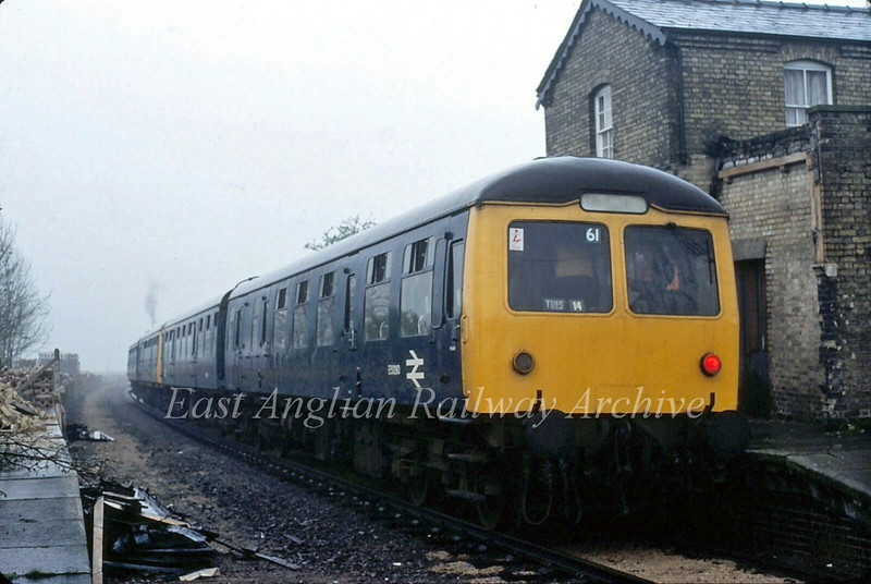 Railway Development Society special to Liverpool Street at Oakington on  11th April 1981.