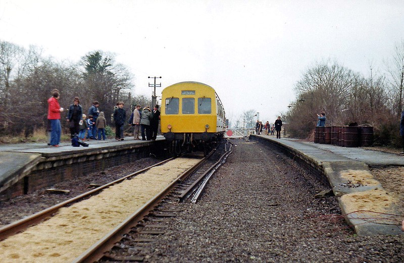 Swavesey on 31st March 1979 with the visit of the Railway Development Society special.