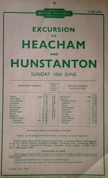 Typical Sunday excursion to Hunstanton in the late fifties/early sixties