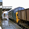 37102 waits for the gates to be opened at Histon.  16th November 1979.