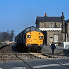 37097 waits to leave Histon with a Railway Development Society special to LIverpool Streeet.  12th April 1980.