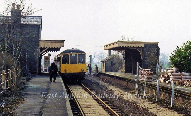A Railway Correspondence and Travel Society special arrives at Oakington on 7th May 1979