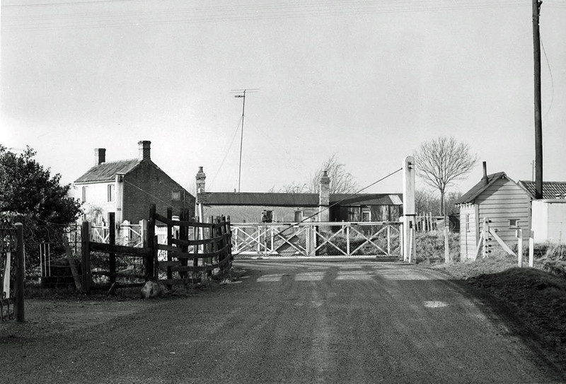 Wimblington. Eastwood End Crossing on 10th January 1962. Viewed facing west. Photo thanks to Mark Brammer.