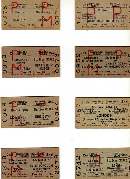A selection of Tickets.