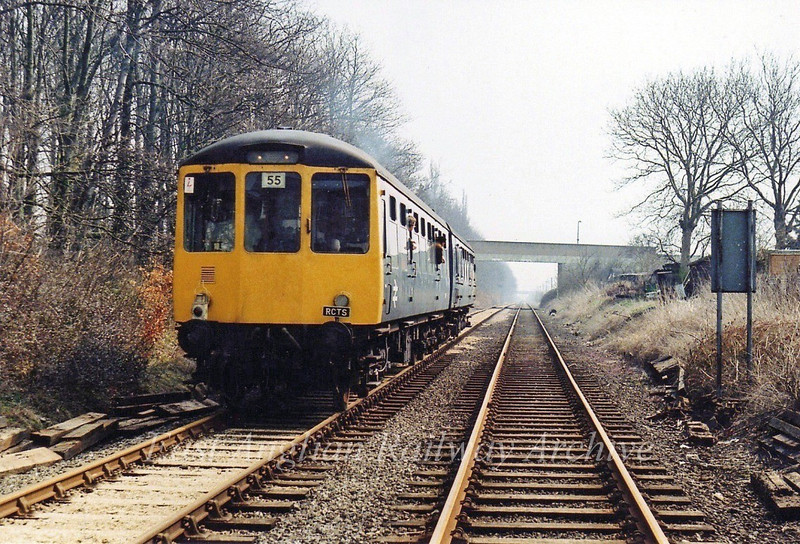 RCTS Special at Histon. The unit is standing where the Cambridge bound guided bus stop is today.  7th May 1979