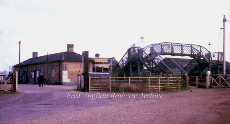 Somersham exterior view.  4th March 1967. Chatteris Road gates to the right. Photo with kind permission of Stewart Ingram.