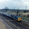 An unknown class 55 heads North at Abbots Ripton, North of Huntingdon in March 1975. Signal Box and semaphores long gone.
