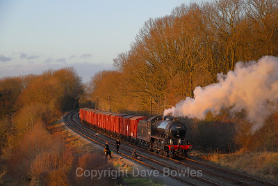 15th January 2020. 62005 at the GCR with a box van train.