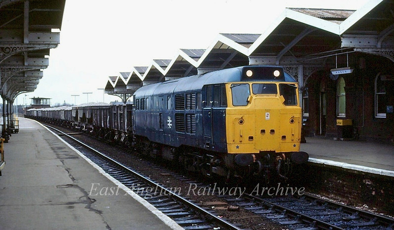 An unknown Class 31 passes March c1981.