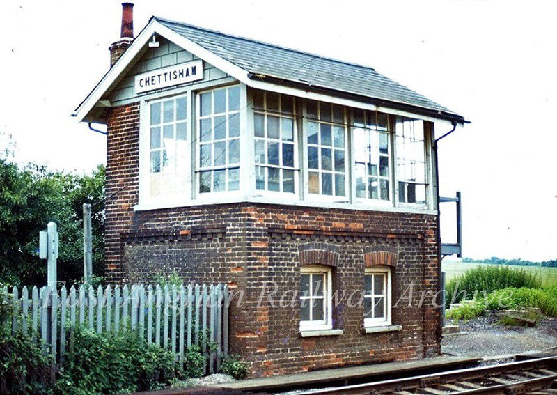 "Chettisham Signal Box 1978.  Photo with kind permission of Ian Dinmore   <a href=""http://www.railarchive.org.uk"">http://www.railarchive.org.uk</a>"