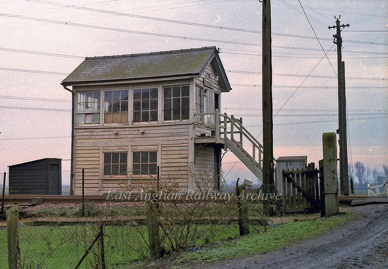 Padnal Signal Box.  29th January 1980