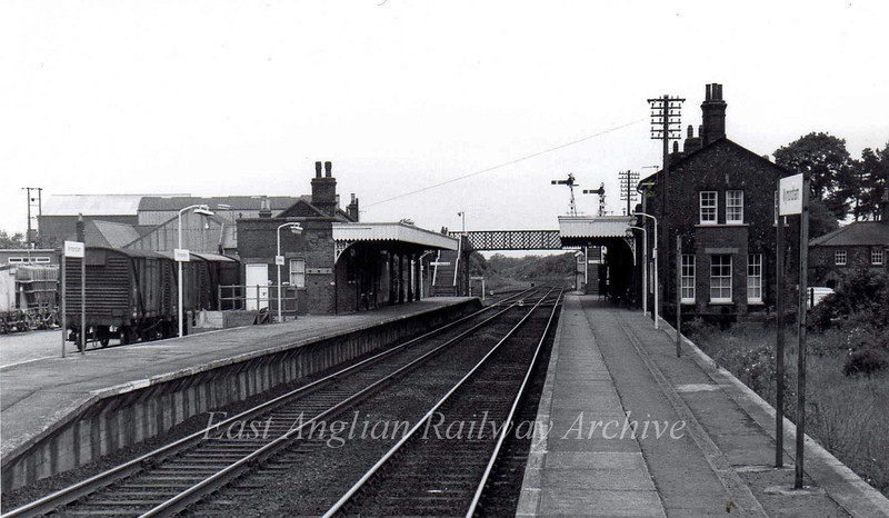 Wymondham facing south.  20th June 1977