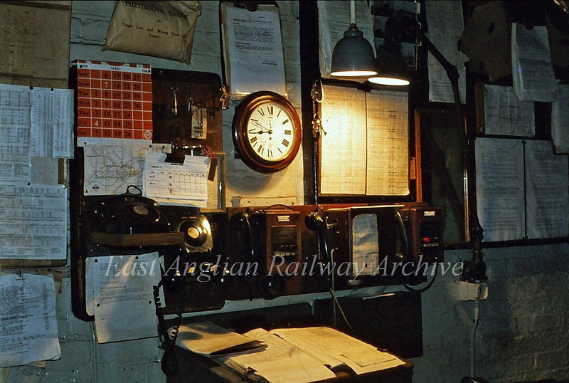 Shippea Hill Box interior detail. 23rd April 1980