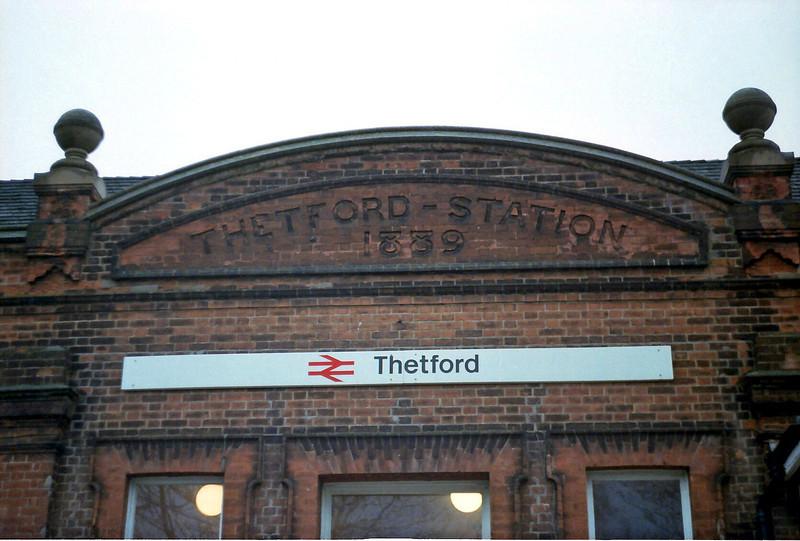 Thetford Station Detail.