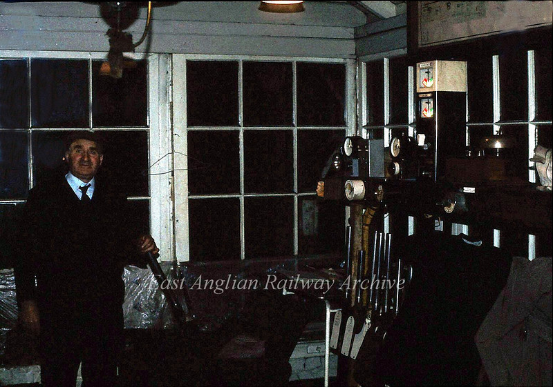 The amiable Arthur Broughton in Shippea Hill Box who taught me a lot about railway signalling. 23rd April 1980