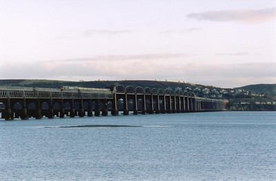 A fast drive through Fife and onto the north bank of the Tay. The train has cleared the high girders of the Tay Bridge. The only cloud in the western sky was right in front of the sun at this point and a guy standing next to me didn't even take his camera out of his bag.