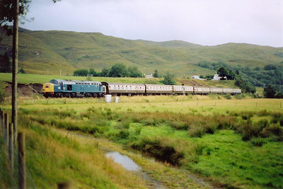 40145 slows for its token exchange stop at Strathcarron.