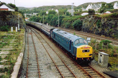 Journey's end and on the second attempt, 40145 rolls into the Kyle of Lochalsh.