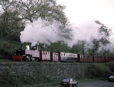 Guesting from the Welsh Highland Rly - Russell at Rhiw Plas	 30/4/88