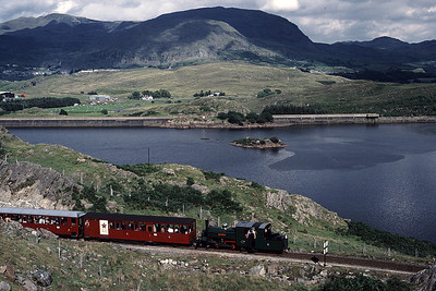 Blanche with Down train at Llyn-ystradau 27/07/87