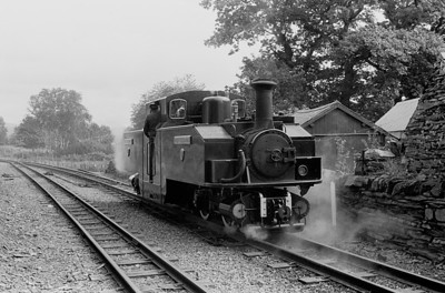 Earl of Merioneth was having problems  and taken off the train at Minfordd  - July 1981