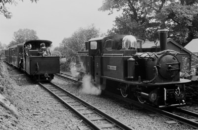 With the Earl off  the train, Merdin Emrys was detached from the down train to take over from the Earl.   Linda replaced Merddin  on the down train.  (Again watch the change in merddin over the years and keep an eye on the brass dome and chimneys)  July 1981