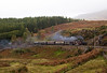 Merrdin Emrys with Vintage coaches and slate wagons at Tank Curve 09.10 Porthmadog Bl Ffestiniog 9/10/10