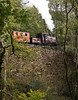 Palmerston shunting coaches on Creau (Tan-y-Bwlch) 9/10/10