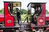 Back to back Hunslets:  Irish Mail and Maid Marian were ordered together by Dinorwic quarry and carry consecutive works numbers 23/6/18