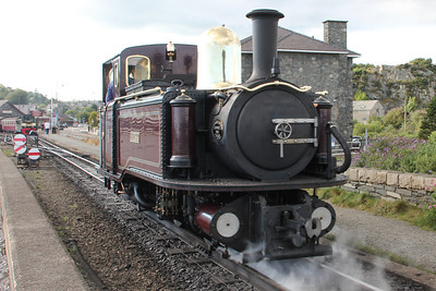 Taliesin arriving at Porthmadog Harbour. 8 August 2012