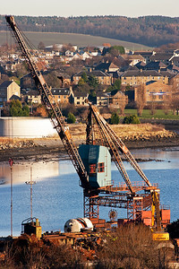 One of the cranes on the quay side at Thomas Ward's scrapyard. It mainly breaks ships but did dispose of a few Britannia class steam locos in the late 1960's.