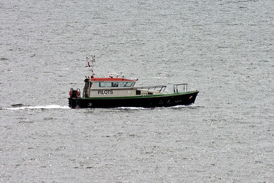 One of the Forth Ports Authority pilot vessels goes about its business.
