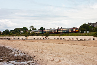 A move to Burntisland and the beach with the railway running right along it. An unknown class 170 Turbostar heads for Edinburgh with 2K21 1023 Glenrothes to Edinburgh class 2 local service.