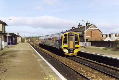 ScotRail service 1B19 1008 Dyce to Edinburgh is not booked to stop here and 158720 passes through the station.