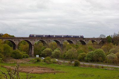 This up service from Inverurie to Edinburgh, 1B24 1038 off, crosses the viaduct at speed as it would not have stopped at Markinch.