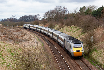 The white and grey liveried train is a slight variation of that applied by National Express when they had the franchise. East Coast is not a franchise as such but a company set up by the Government through the DfT. It would be a waste of public money to fully re-livery the trains so the existing one was adapted.